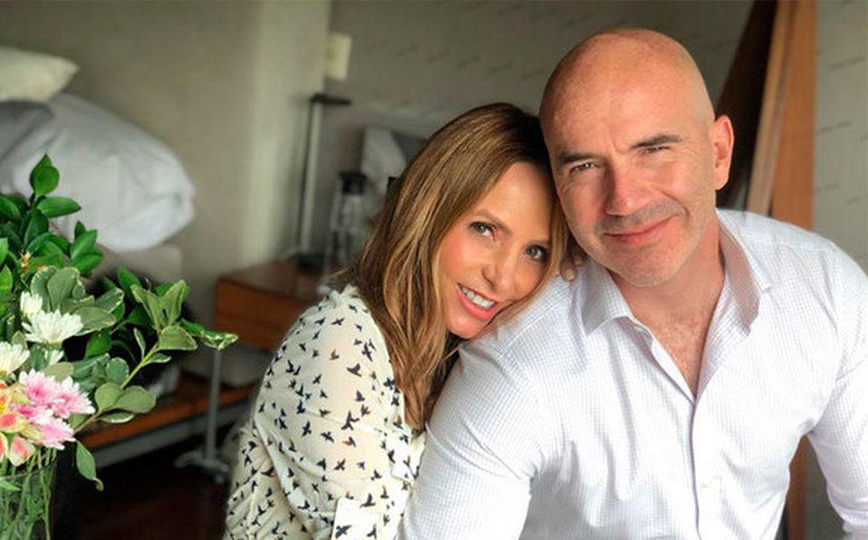 Érika Zaba y su esposo