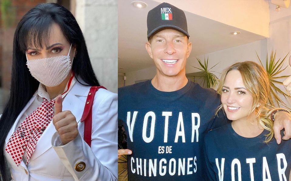 Famosos compartieron fotos después de votar (Instagram).