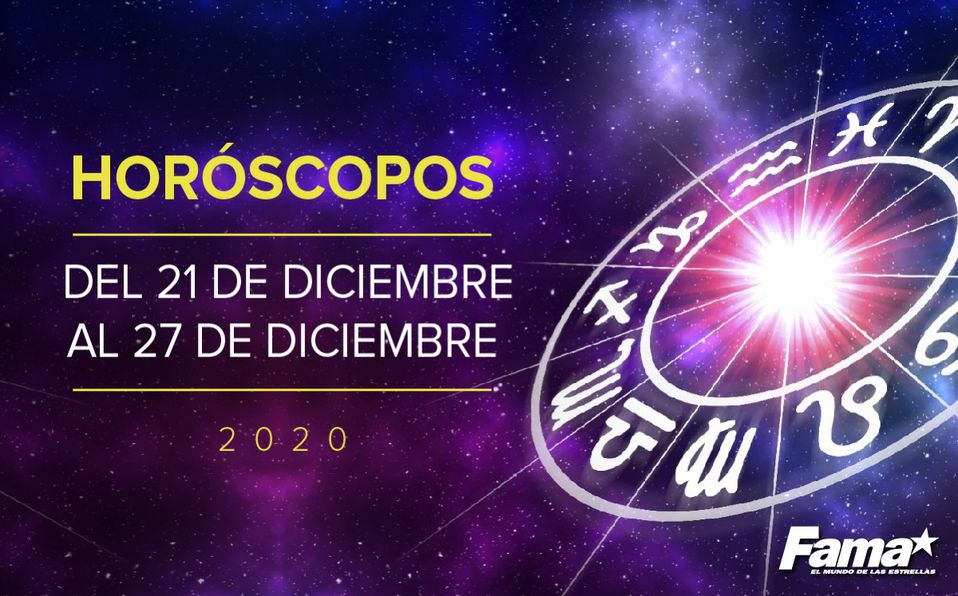 Horóscopo de hoy: Semana del 21 al 27 de diciembre de 2020