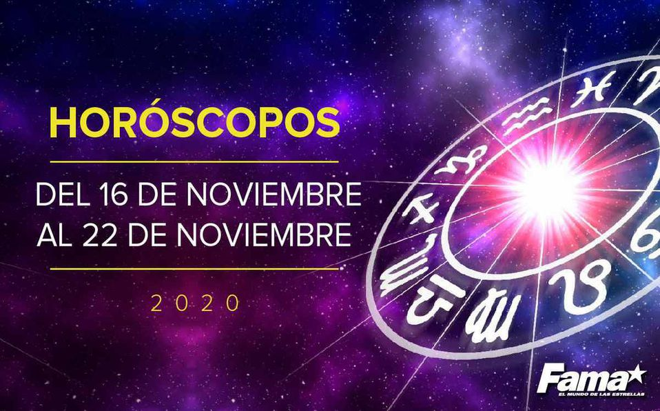 Horóscopo de hoy: Semana del 16 al 22 de noviembre de 2020