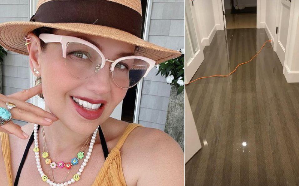 Thalía se vio afectada por las fuertes lluvias en Nueva York