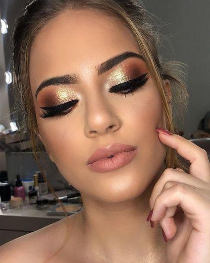 40 Festive Eye Makeup Ideas | Maquillaje para navidad