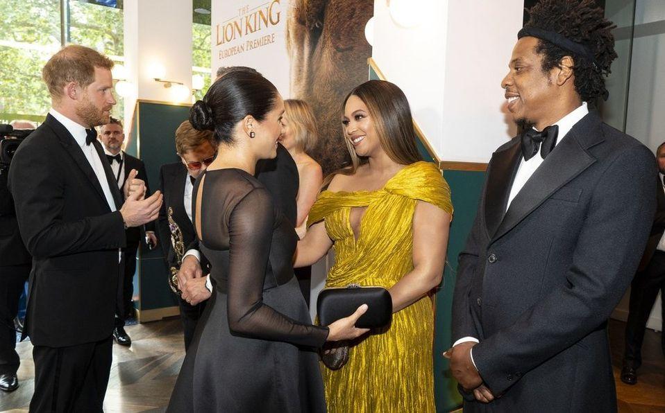 Beyoncé, Jay-Z, Meghan Markle y el príncipe Harry