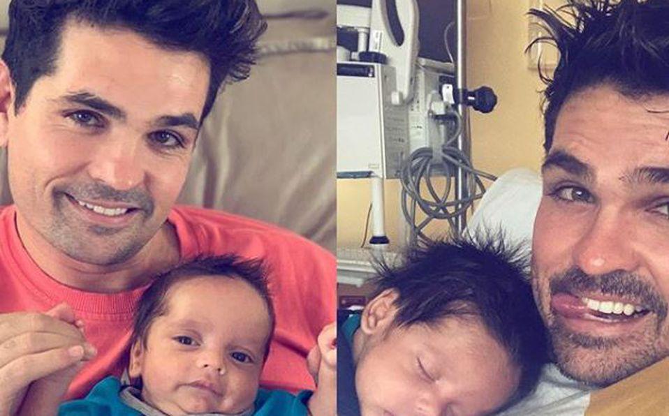 'Rogamos oraciones por nuestro bebé': Hijo de Ferdinando Valencia es internado de emergencia
