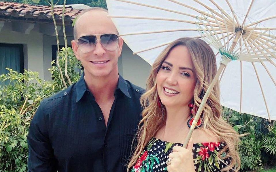 Andrea Legarreta y Erik Rubín se casaron en abril del 2000 (Instagram).