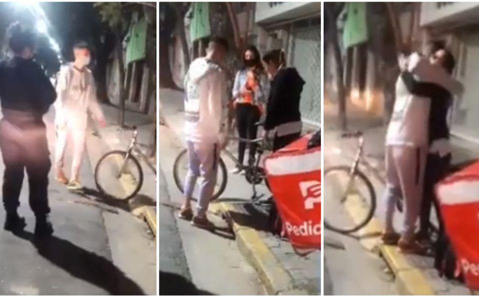 Roban bicicleta a repartidor y mujer que hizo el pedido le regala la suya (Captura de pantalla).