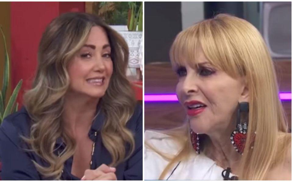 Las famosas tuvieron un desacuerdo durante el programa (Captura de pantalla).