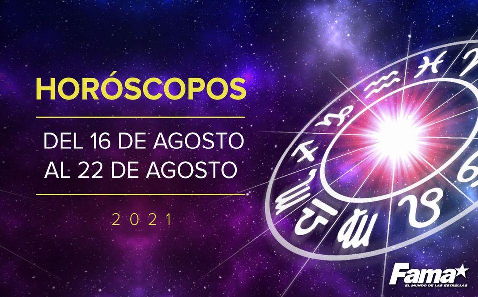 Horóscopo de hoy: Semana del 16 al 23 de agosto de 2021