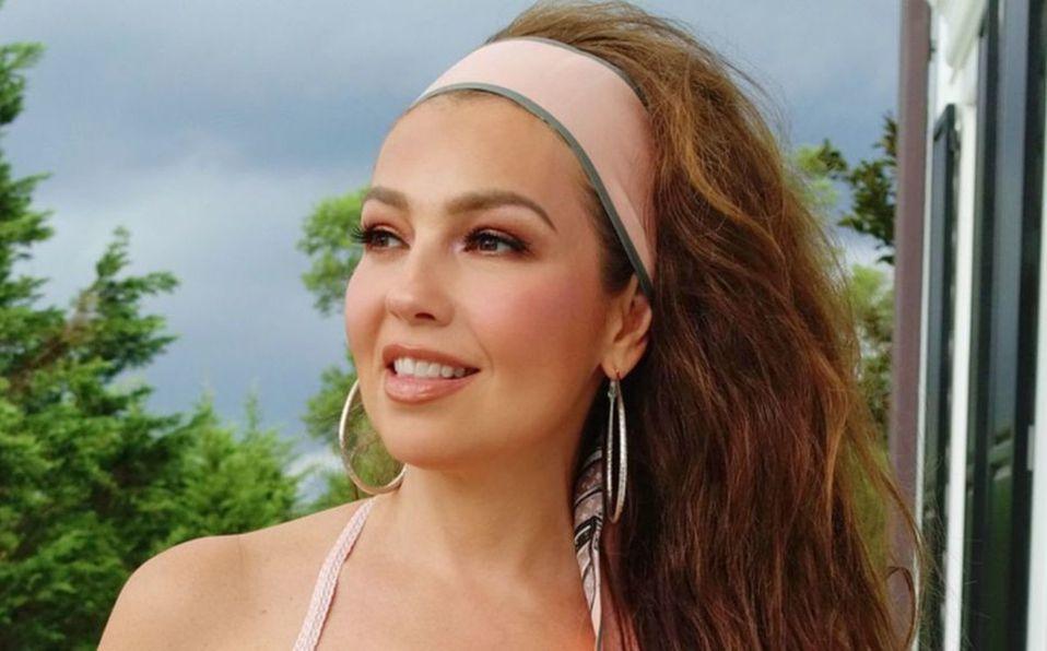 Thalía: se disfraza de la Mujer Maravilla en armadura de acero