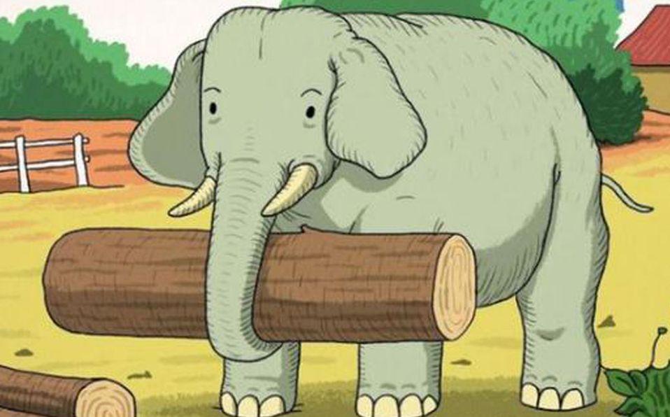 Encuentra al animal junto al elefante (Especial).