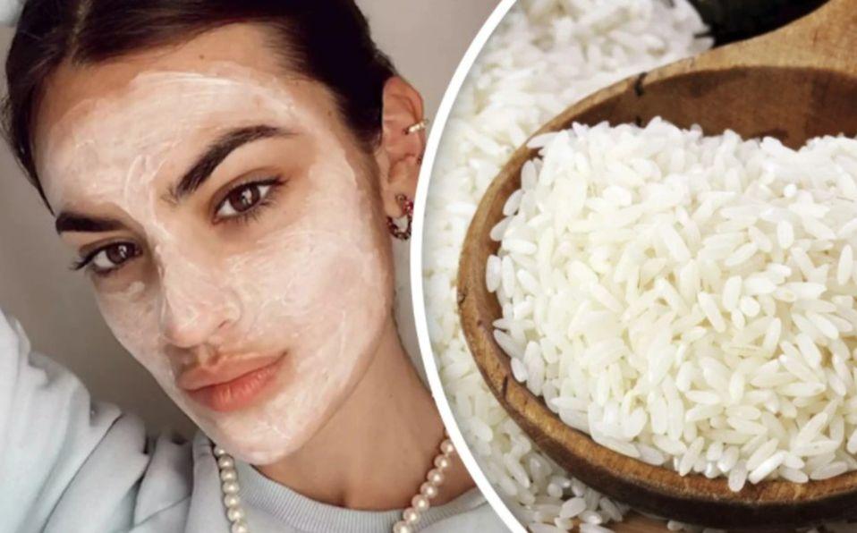 Mascarilla de arroz para eliminar arrugas