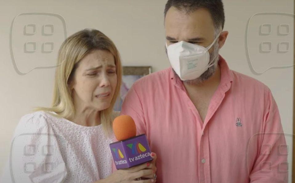 Gaby Crassus despide a Rodrigo Mejía en misa y da entrevista desconsolada