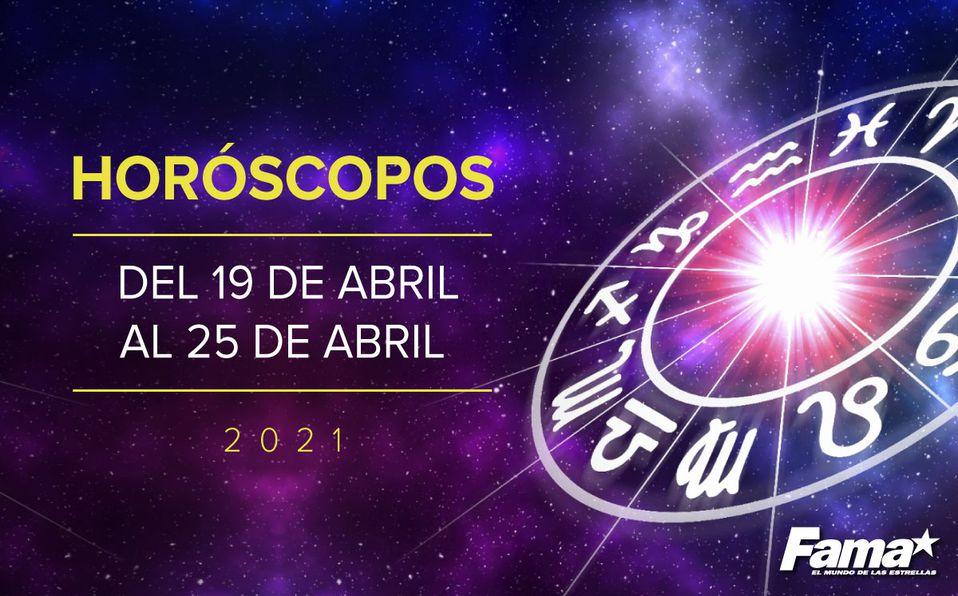 Horóscopo de hoy: Semana del 19 al 25 de abril de 2021