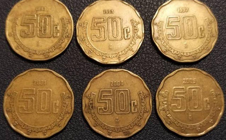 Monedas de 50 centavos, a este precio se venden