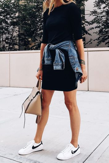 7 Formas De Convertir Un Vestido Negro Formal En Un Outfit