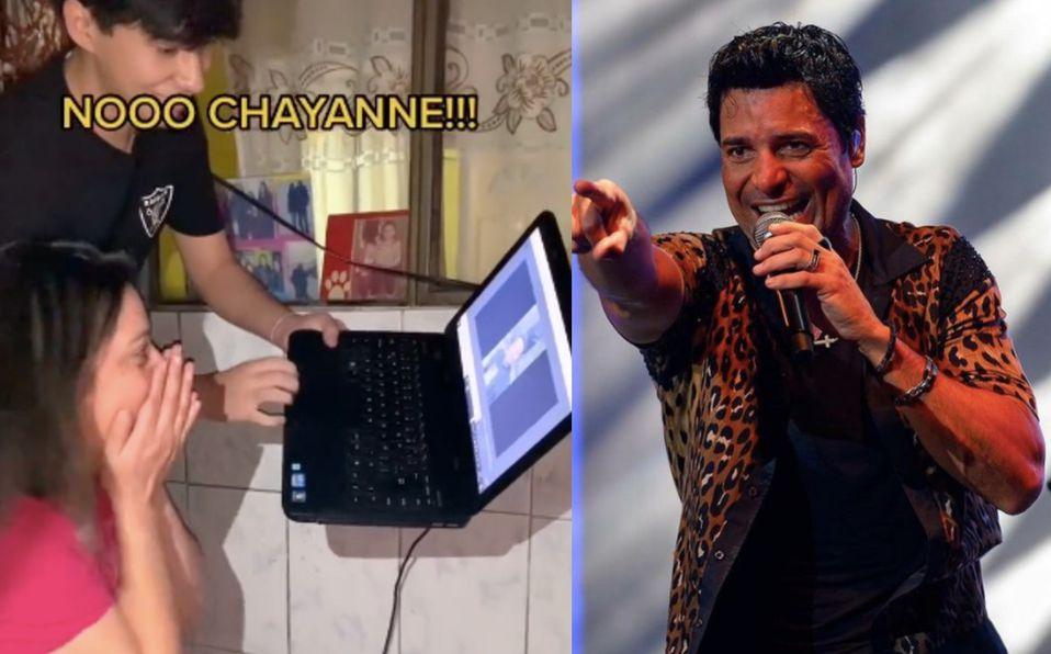 Tiktoker consigue saludo de Chayanne para su mamá y esta fue su reacción
