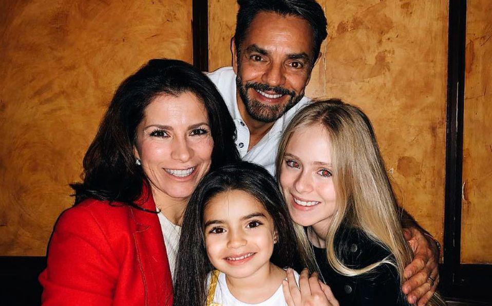 Loreto Peralta, Eugenio Derbez y su familia