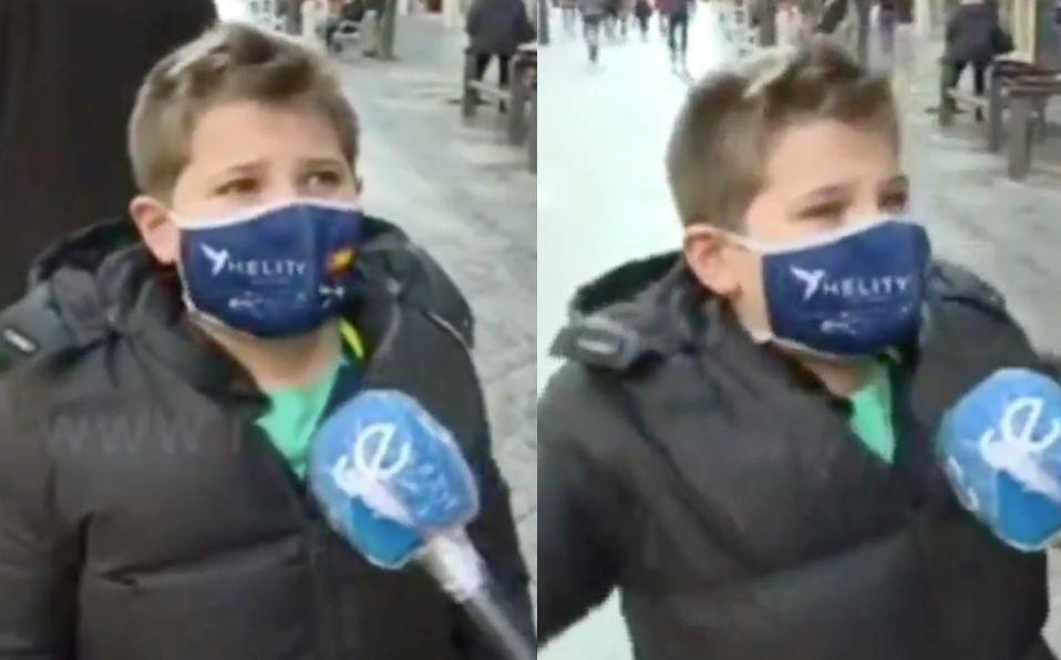 Niño es entrevistado y divierte con sus respuestas de San Valentín