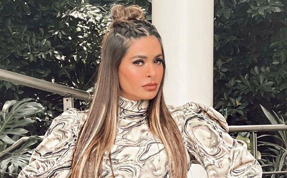 Galilea Montijo lució un llamativo vestido (Instagram).