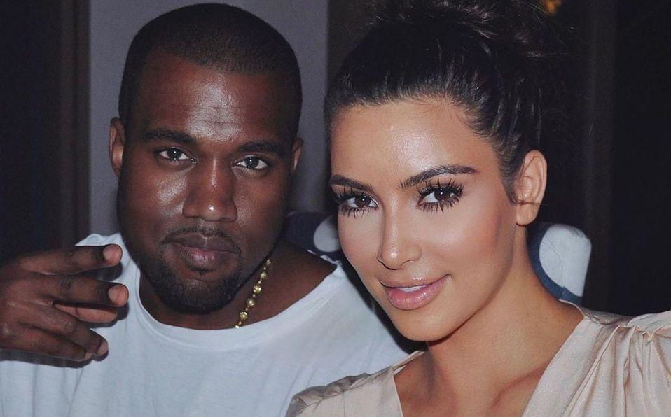 Kim Kardashian y Kanye West (Instagram).