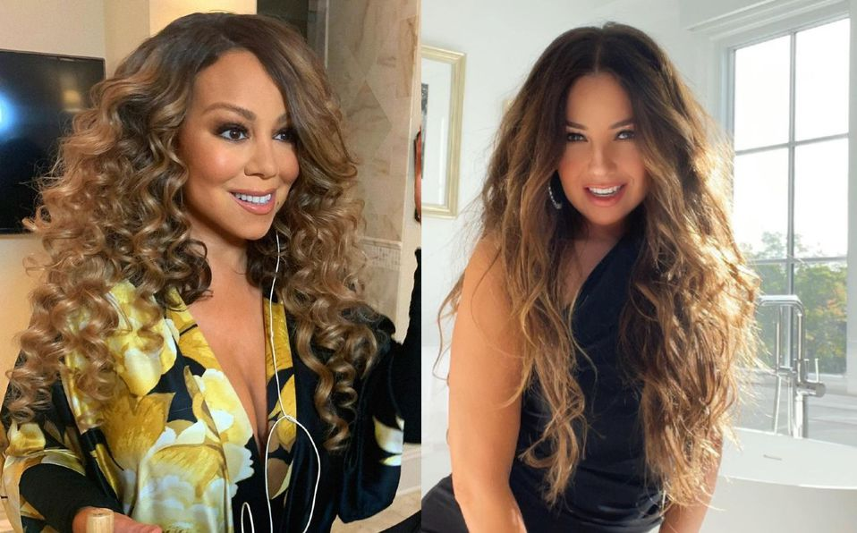 Thalía y Mariah Carey