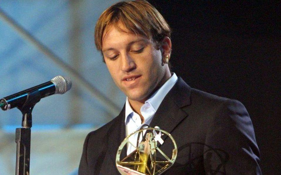 Matías Vuoso del Santos Laguna recibió El Balon de Oro como el mejor delantero del futbol mexicano en 2005 (Cuartoscuro).
