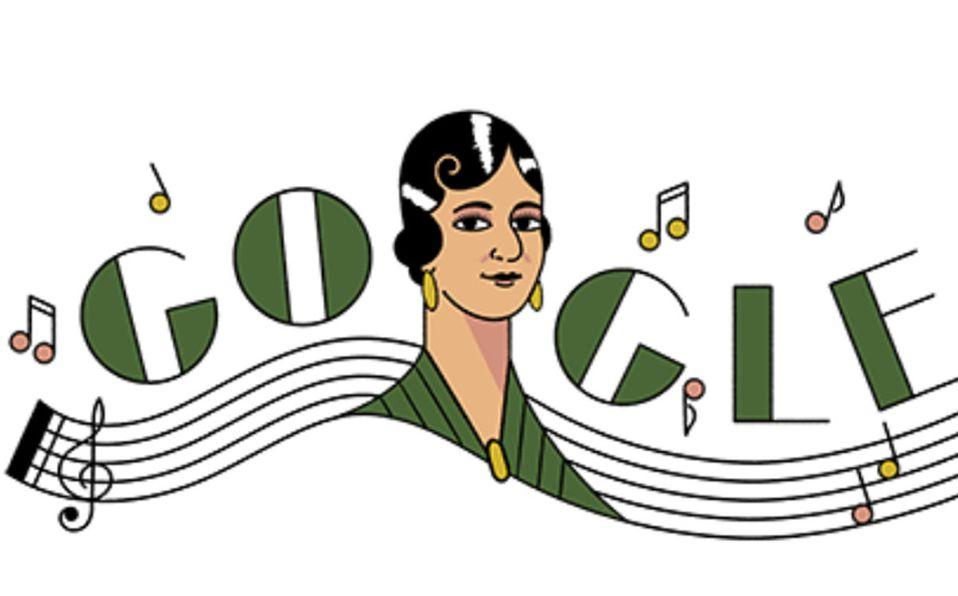 María Grever aparece en el doodle de hoy (Google).