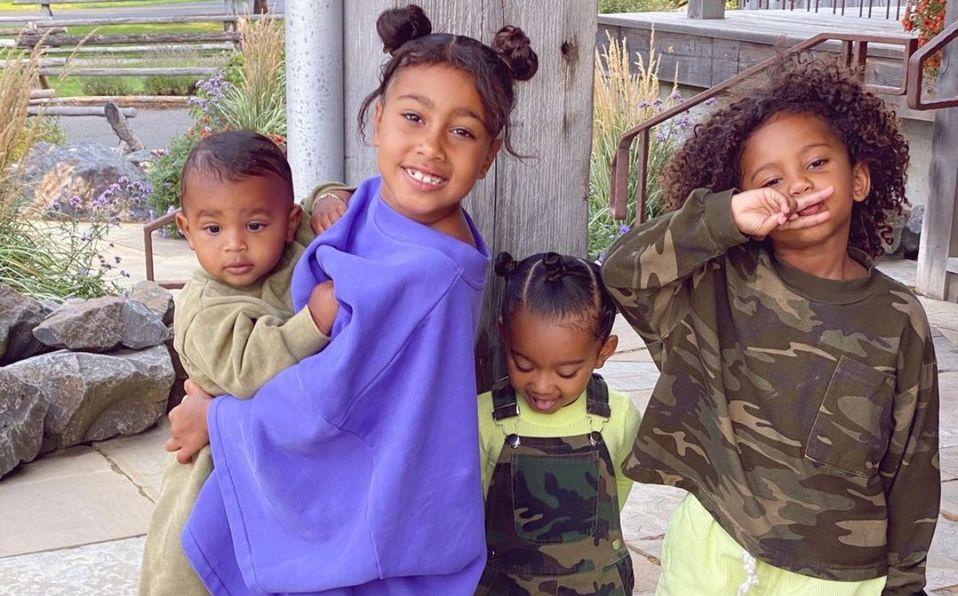 Los hijos de Kanye West y Kim Kardashian son adorables (instagram)