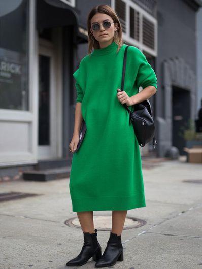 Outfits Con Suéter Tipo Vestido Que Son Perfectos Para Otoño