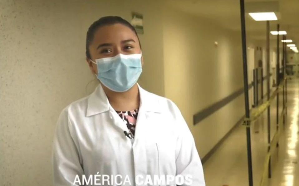 Ella es América Campos la doctora que combate la pandemia en mixteco (Instagram).