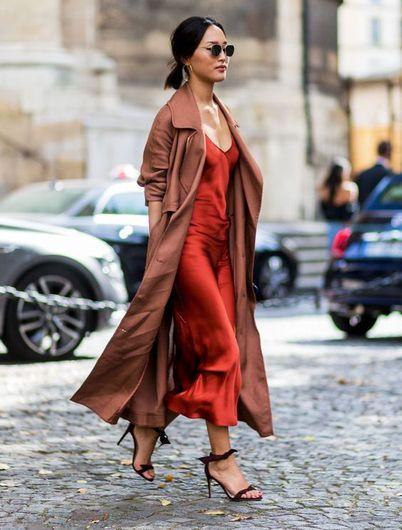 10 Outfits Con Vestido De Seda Para Usar En Un Día Casual