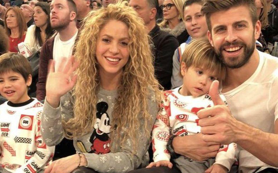 Shakira, Piqué y sus hijos